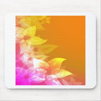 Flores anaranjadas del amarillo del Hawaiian Tapetes De Ratón