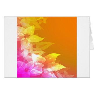 Flores anaranjadas/del amarillo del Hawaiian Tarjeta De Felicitación