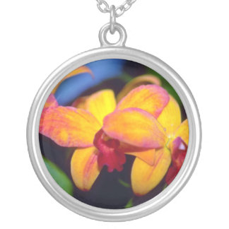 Flores anaranjadas del Cymbidium Colgante Personalizado