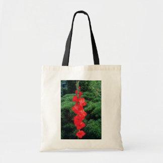 Flores anaranjadas del gladiolo de la llama del ti bolsa lienzo
