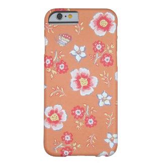 flores anaranjadas del país funda de iPhone 6 barely there