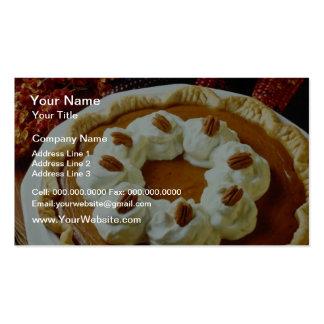 Flores anaranjadas del pastel de calabaza de la cr tarjeta de visita