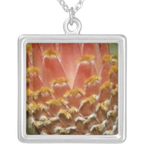 Flores anaranjadas del protea de la reina (Protea  Pendientes Personalizados