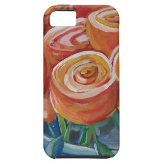 Flores anaranjadas funda para iPhone 5 tough