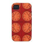 Flores anaranjadas iPhone 4 carcasas