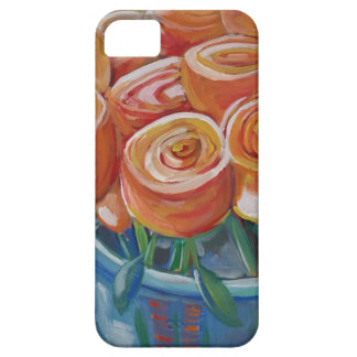 Flores anaranjadas iPhone 5 funda