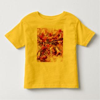 Flores anaranjadas marrones t shirt