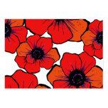 Flores anaranjadas rojas intrépidas plantillas de tarjeta de negocio
