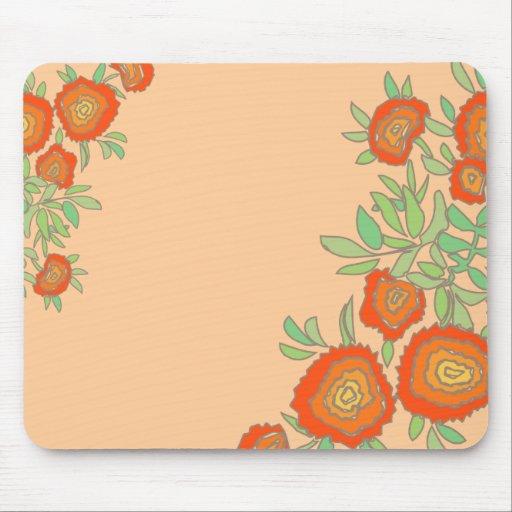 Flores anaranjadas tapete de ratón