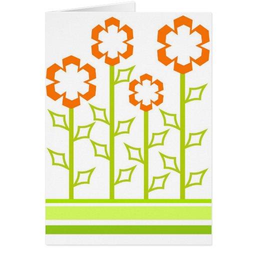 Flores anaranjadas - tarjeta