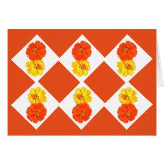Flores anaranjadas y amarillas por Phantasies de Tarjeta Pequeña