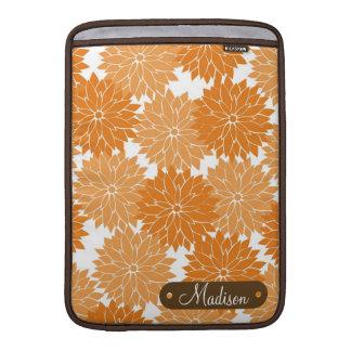Flores anaranjados conocidos personalizados person fundas macbook air