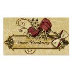 Flores antiguas tarjeta de visita