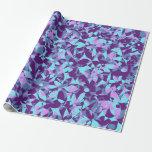 Flores apretadas - púrpura y turquesa