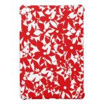 Flores apretadas - rojo iPad mini protectores