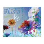 Flores artsy del arte de la palabra postal