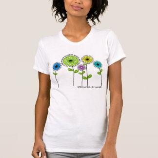 Flores artsy jubiladas de las camisetas de la enfe