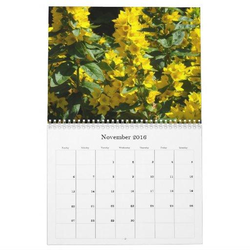 Flores asombrosas 2012 calendario de pared