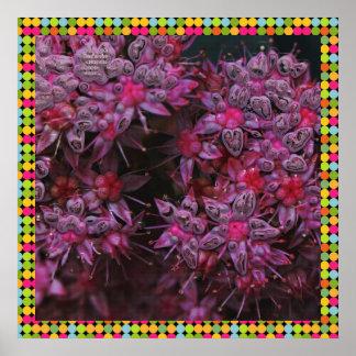 flores asombrosas del rosa (i) póster