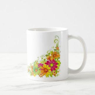 Flores atractivas taza