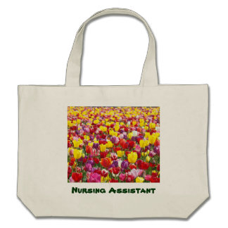 Flores auxiliares de los tulipanes de los regalos bolsas lienzo