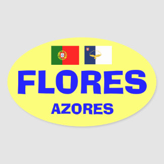 Flores* Azores European-style Oval Sticker