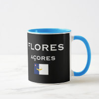 Flores Azores Map Coffee Mug