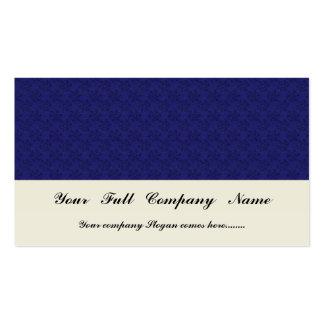 Flores azul marino atractivas con los pétalos fron plantilla de tarjeta personal