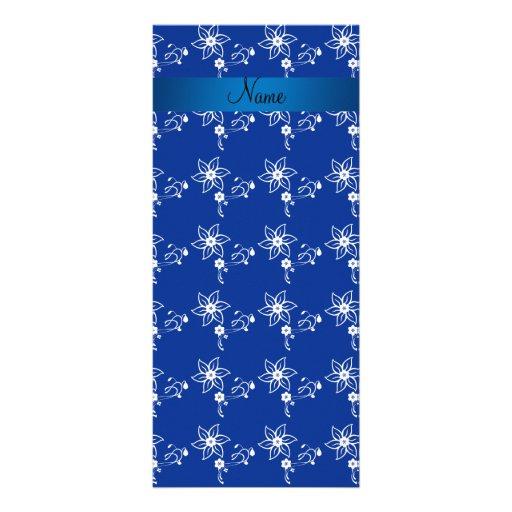 Flores azul marino conocidas personalizadas tarjetas publicitarias