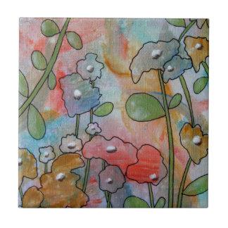 Flores Azulejo Cuadrado Pequeño