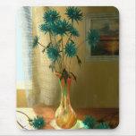Flores azules alfombrillas de ratones