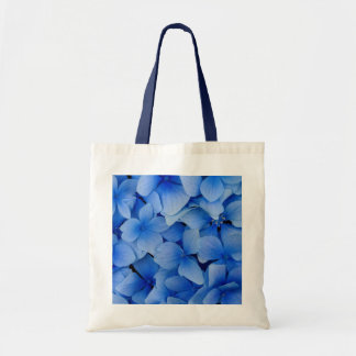 Flores azules bolsa lienzo