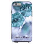 Flores azules bonitas funda de iPhone 6 tough