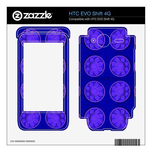 Flores azules brillantes modernas HTC EVO shift 4G skins