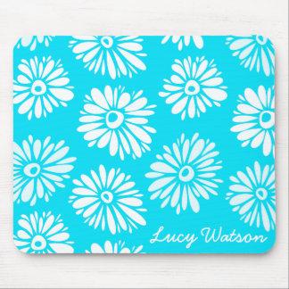 Flores azules claras Mousepad