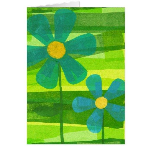 Flores azules con el mensaje tarjetas