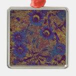 Flores azules contra modelo del camuflaje de la adorno de navidad