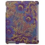 Flores azules contra modelo del camuflaje de la ho