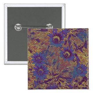 Flores azules contra modelo del camuflaje de la ho pin cuadrada 5 cm