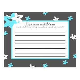Flores azules de Arizona del té de la tarjeta prog Tarjeta Postal