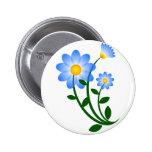 Flores azules de Clipart Pin