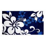 Flores azules de Hawaii de la hawaiana Tarjetas De Visita