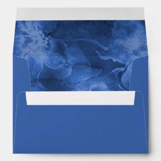 Flores azules de la acuarela sobre