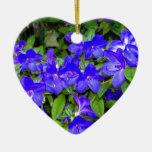 Flores azules de la azalea adorno para reyes