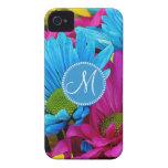 Flores azules de las margaritas de Gerber del trul iPhone 4 Case-Mate Protectores