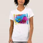 Flores azules de las margaritas de Gerber del trul Camisetas