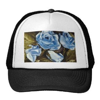 Flores azules de los rosas de la aguamarina gorros