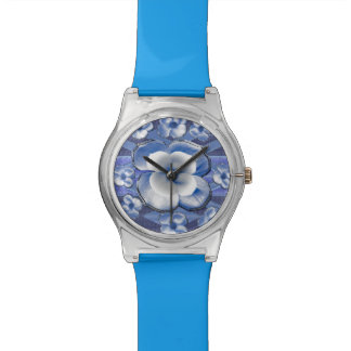 Flores azules del Dogwood Relojes De Pulsera