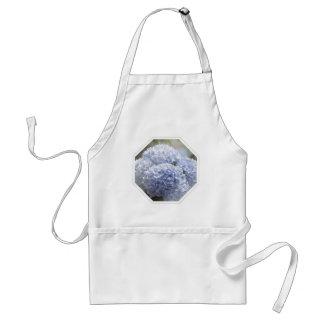 Flores azules del Hydrangea de los diamantes Delantal