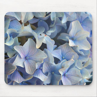 Flores azules del Hydrangea Tapete De Ratones